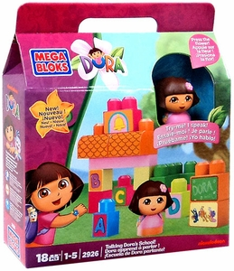 Dora The Explorer Mega Bloks Set #2926 Talking Dora's School