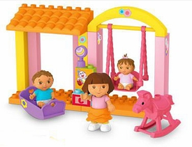 Dora The Explorer LOOSE Mega Bloks Set #3081 Dora's Family Nursery