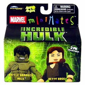 Marvel MiniMates The Incredible Hulk Movie 2-Pack Battle Damaged Hulk & Betty Ross