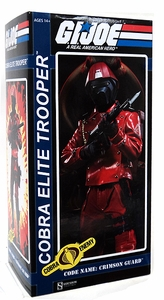 GI Joe Sideshow Collectibles 12 Inch Deluxe Action Figure Cobra Elite Trooper  [Code Name: Crimson Guard]