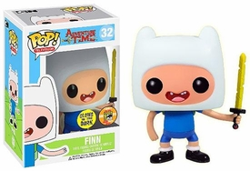 Funko POP! Adventure Time 2013 SDCC San Diego Comic-Con Exclusive Vinyl Figure Finn [Glow in the Dark]