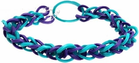 Confetti Rubber Band Bracelet Blue & Purple