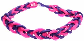 Confetti Rubber Band Bracelet Pink & Purple
