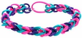 Confetti Rubber Band Bracelet Pink, Blue & Purple