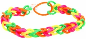 Confetti Rubber Band Bracelet Pink, Orange Green & Yellow