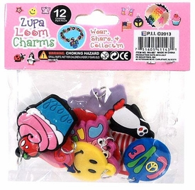 D.I.Y. Do it Yourself Bracelet Zupa Loomi Bandz Bracelet Charm 12-Pack MEGA Hot!