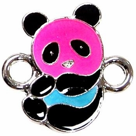 Undee Bandz Rubbzy Enamel Glow-in-the-Dark Rubber Band Bracelet Charm Panda