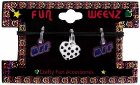 Fun Weevz Charms for Rainbow Band Loom Bracelets Random (3 Charms)