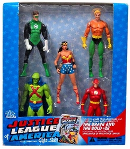 DC Direct Justice League of America First Appearance Gift Set [Wonder Woman, The Flash, Green Lantern, Martian Manhunter & Aquaman]