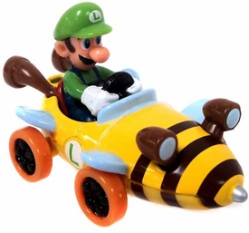Mario Kart Tomy Ertl Die Cast Mini Figure Luigi in Bee Kart