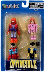 Invincible Minimates Mini Figure 4-Pack Invincible, Atom Eve, Omni-Man & Allen the Alien