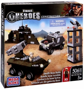 True Heroes Mega Bloks Set Stealth Base Battle