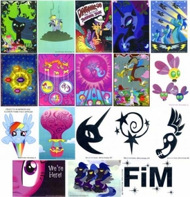 My Little Pony Friendship is Magic Single Dog Tag Set of all 18 Decal Cards BLOWOUT SALE!