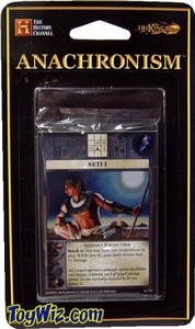 Anachronism Card Game Warrior Pack Egyptian Seti I BLOWOUT SALE!