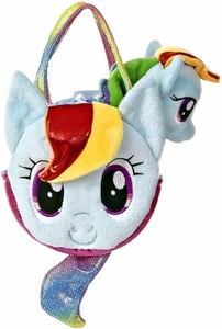 Aurora My Little Pony Friendship is Magic SMALL 6.5 Inch Plush Rainbow Dash with Purse BLOWOUT SALE!