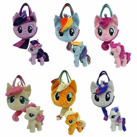 Aurora My Little Pony Friendship is Magic Aurora Set of Mane Six Small Plush with Purses
