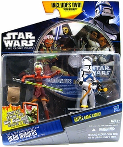 Star Wars 2012 Clone Wars Action Figure 2-Pack Ahsoka & Clone Trooper Scythe with