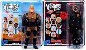 Bif Bang Pow! Venture Bros. Series 8 Set of Both Action Figures Brock Samson & Killinger