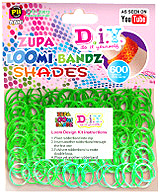 D.I.Y. Do it Yourself Bracelet Zupa Loomi 600 Shades Green Rubber Bands with 'S' Clips
