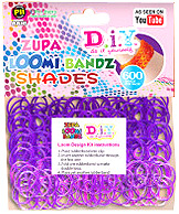 D.I.Y. Do it Yourself Bracelet Zupa Loomi 600 Shades Purple Rubber Bands with 'S' Clips