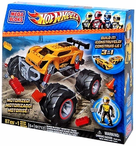 Hot Wheels Mega Bloks Set #91712 Super Blitzen Monster Truck