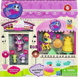 Littlest Pet Shop 4-Pack Sweet Delights Bakery [Armadillo, Turtle, Poodle & Horse]