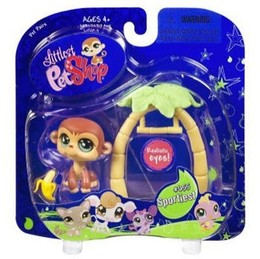 Littlest Pet Shop Pets On the Go Monkey with Swing & Banana