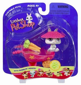 Littlest Pet Shop Pets On the Go Bunny with Wheelbarrow