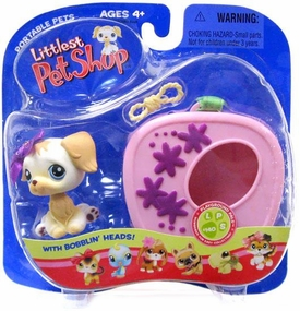 Littlest Pet Shop Pets On The Go Figure Golden Retriever with Carrier