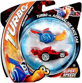 Turbo Movie Vehicle 2-Pack Turbo vs Adrenalode Race Car