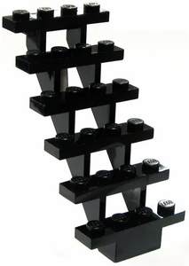 LEGO Accessories & Stuff LOOSE Accessory Black Stairs [6 Steps]