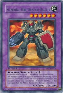 YuGiOh GX Duelist Pack Jaden Single Card Rare DP1-EN012 Elemental Hero Rampart Blaster