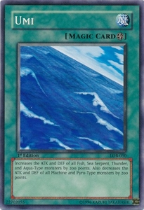 YuGiOh Legend of Blue Eyes White Dragon Single Card Common LOB-050 Umi