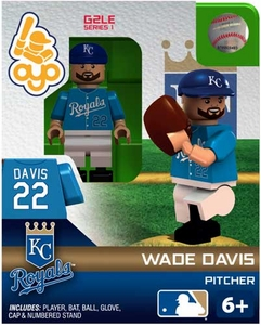 OYO Baseball MLB Generation 2 Building Brick Minifigure Wade Davis [Kansas City Royals]
