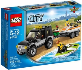 LEGO City Set #60058 SUV with Watercraft