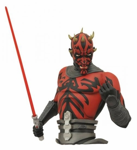 Star Wars Clone Wars Darth Maul Bust Bank New!