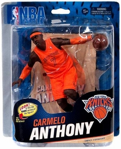 McFarlane Toys NBA Sports Picks Series 23 Action Figure Carmelo Anthony (New York Knicks) Orange Christmas Uniform Collector Level Only 1,000 Made!