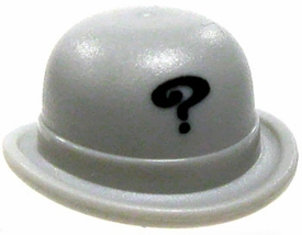 LEGO Castle LOOSE Gray Bowler Hat with Question Mark