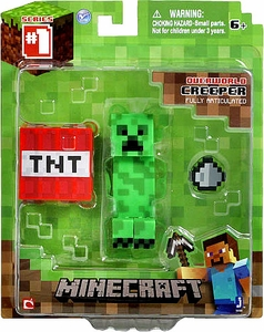 Minecraft Core Action Figure with Accessory Creeper Hot!