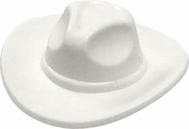 LEGO LOOSE Headgear White Stetson Cowboy Hat