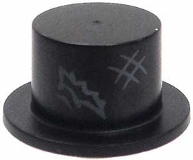 LEGO LOOSE Headgear Black Tophat with Tear & Scuff Mark