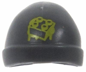LEGO LOOSE Headgear Gray Ski Cap with Green Brick Logo