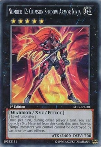 YuGiOh Star Pack 2013 Single Card SP13-EN030 Number 12: Crimson Shadow Armor Ninja