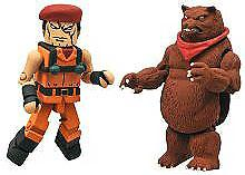 Street Fighter X Tekken Minimates Series 2 LOOSE Mini Figure 2-Pack Rolento vs Kuma
