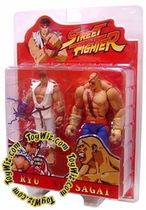 Sota Toys Street Fighter Exclusive Action Figure Ryu Vs. Sagat [Bloody Version]