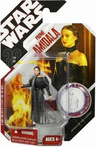 Star Wars 30th Anniversary Saga 2007 Action Figure Wave 9 #56 Padme in Black Leather Outfit