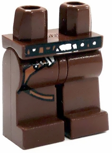 LEGO LOOSE Legs Reddish Brown Legs with Gun Belt
