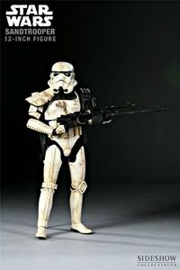 Sideshow Collectibles Militaries of Star Wars 12 Inch Deluxe Action Figure Sandtrooper [Black Shoulder Guard]