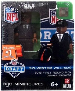 OYO Football NFL Draft First Round Picks Building Brick Minifigure Sylvester Williams [Denver Broncos] #28 Draft Pick