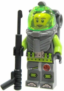 LEGO Atlantis LOOSE Mini Figure Sea Diver #3 with Spear Gun [Lance Spears]